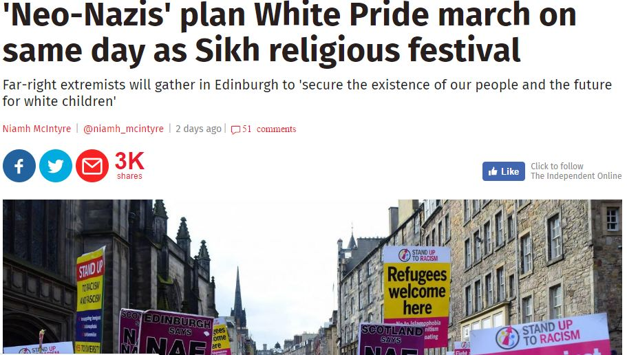 Independent article Nazi Edinburgh