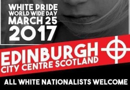 White pride edinburgh march